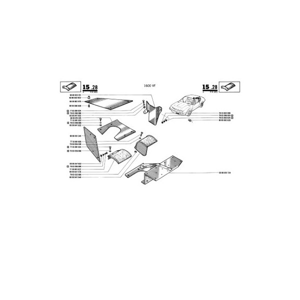 Alpine A310 1600VE et 1600VF, catalogue de pièces