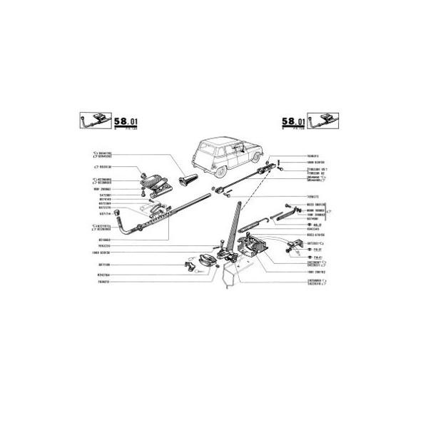 Renault 4 R1123, R1124 et R2104, catalogue de pièces