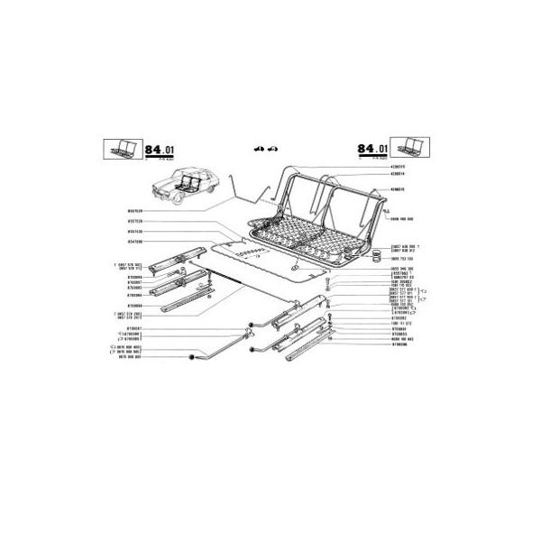 Renault 16 R1150, catalogue de pièces