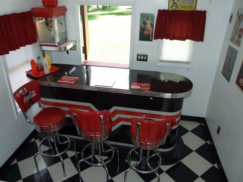 coca cola chairs and tables teen lounge chair retro bars | 1950 bar style custom design