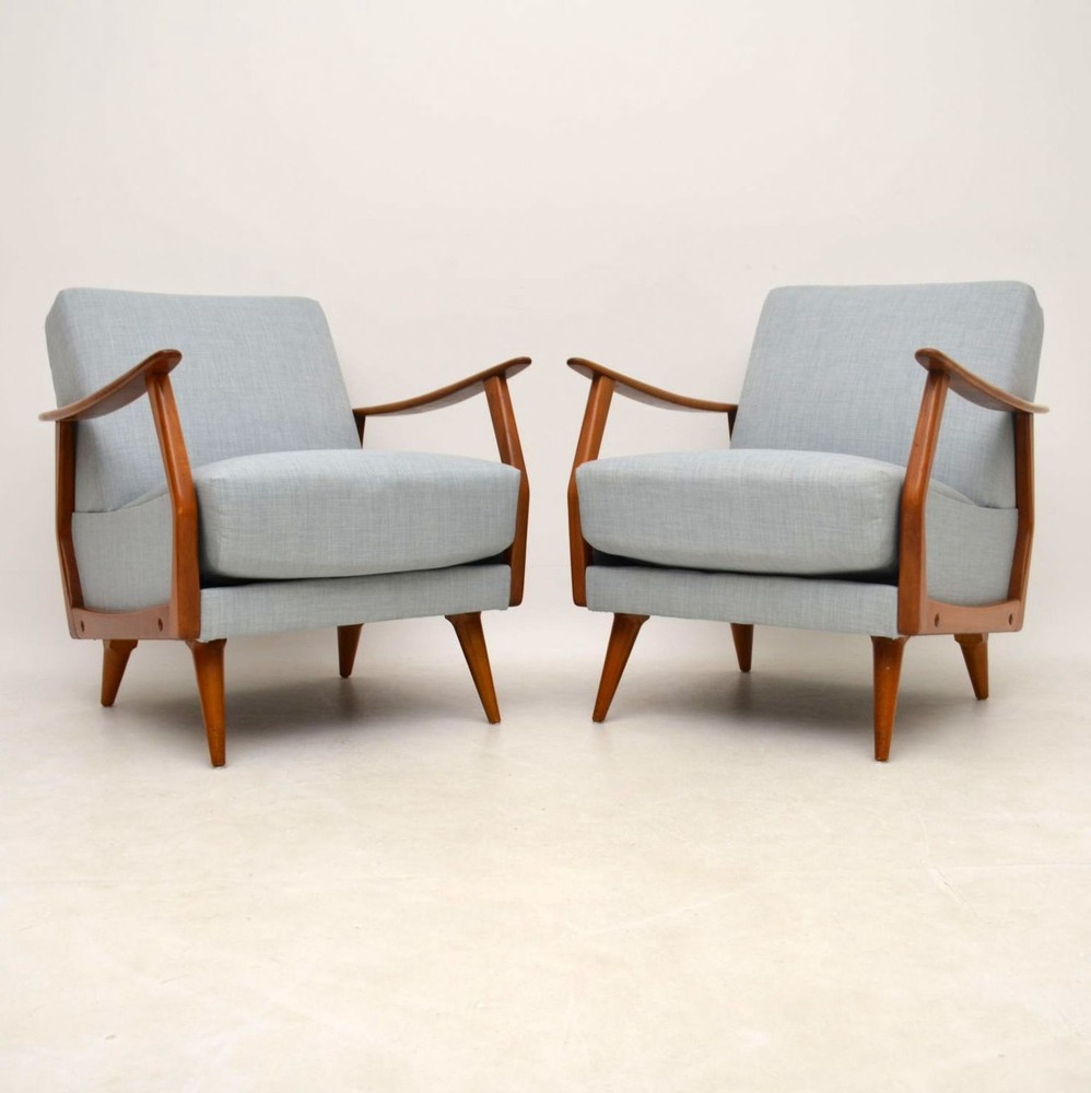 how to clean my fabric sofa made in melbourne pair of danish retro armchairs vintage 1950's ...