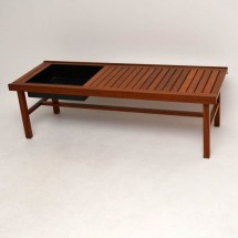 Danish Retro Teak Coffee Table Bench Planter Vintage