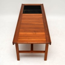 Danish Retro Teak Coffee Table Bench Planter Vintage