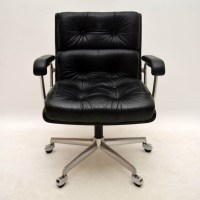 Retro Leather Desk Chair - Hostgarcia