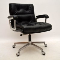 Retro Leather Office Chair. Quality Brown Leather High ...