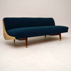 Vintage Retro Style Stunning Patchwork Sofa Bed Dolphin 2 Pc Sectional Danish Beds Guy Rogers Teak Mid Century