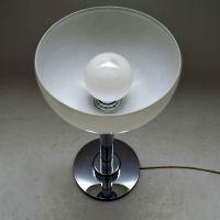 1960s Vintage Chrome & Glass Table Lamp | Retrospective ...