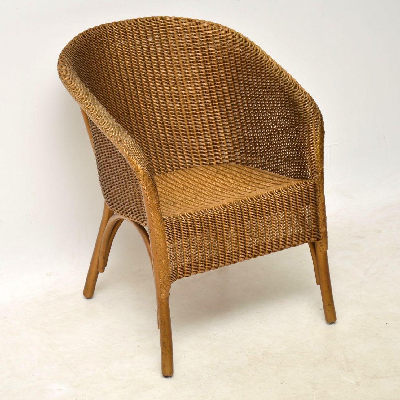 1950s Lloyd Loom Lusty Wicker Armchair Chair
