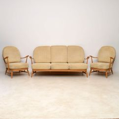Feather Filled Sofas Second Hand Camping Sites Sofala Nsw 1960s Vintage Ercol Sofa And Pair Of Armchairs