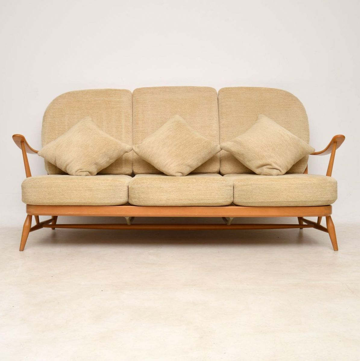 feather filled sofas second hand arhaus sleeper sofa 1960s vintage ercol and pair of armchairs
