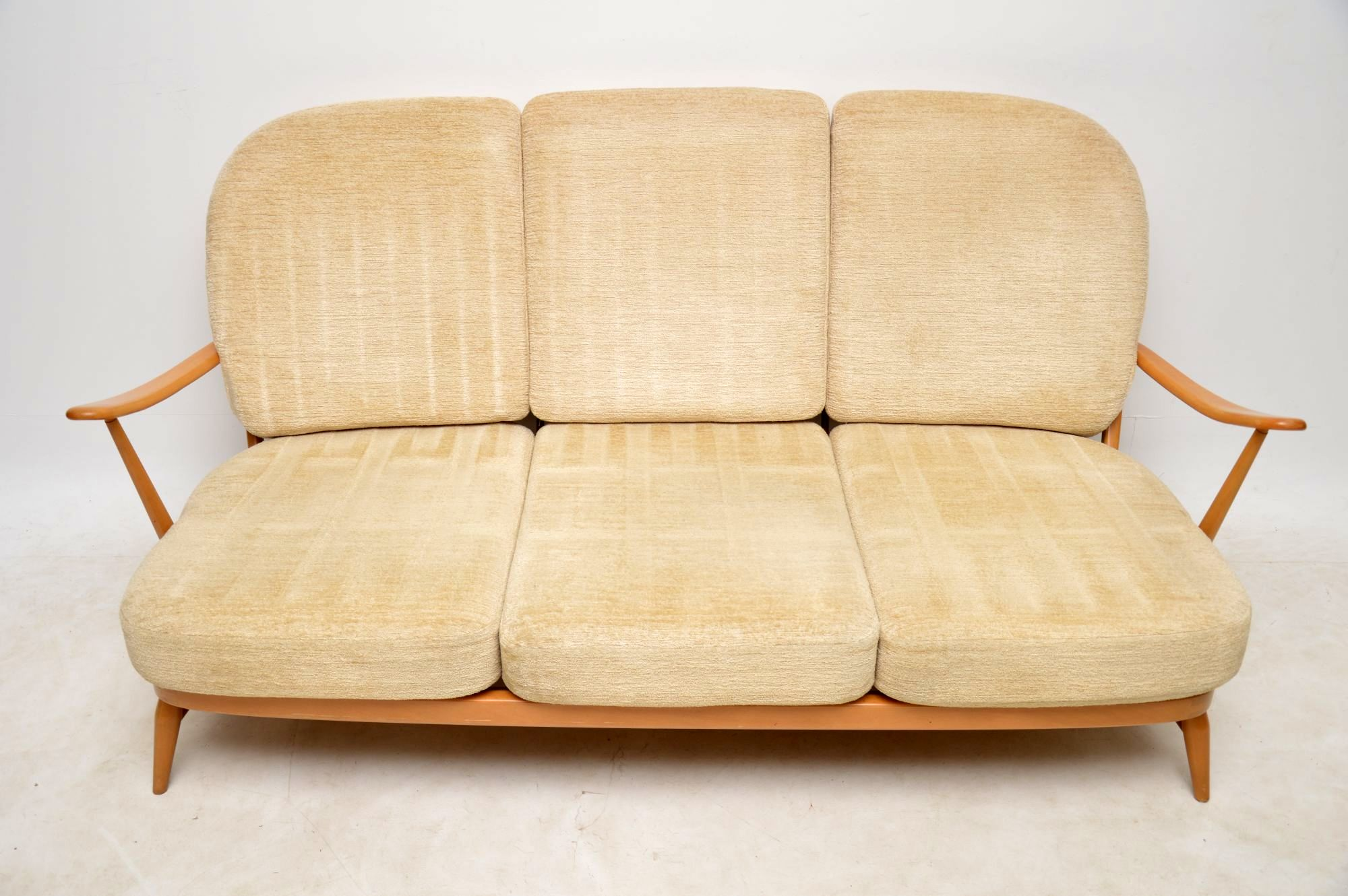 feather filled sofas second hand childrens sofa chair bed 1960s vintage ercol and pair of armchairs