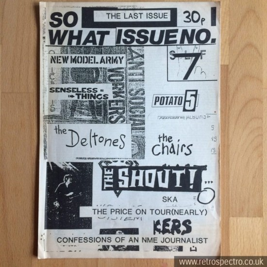 So What punk fanzine