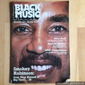 Black Music Magazine Smokey Robinson cover