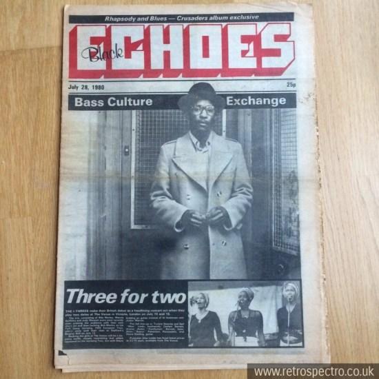 Black Echoes Linton Kwesi Johnson