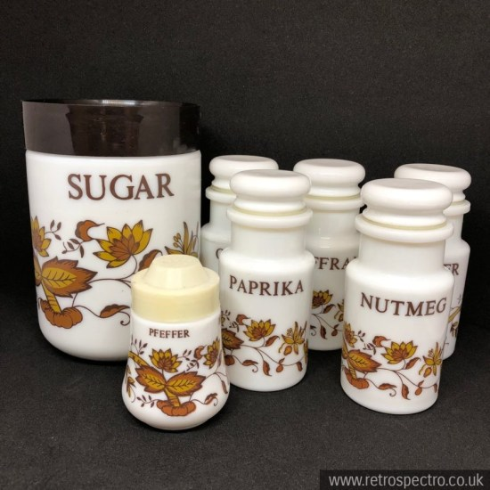 Cerve milk glass containers