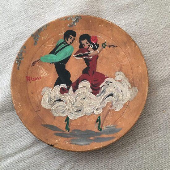 Kitsch Flamenco Dancers plaque/wall plate