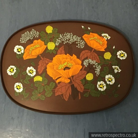 St Michael melamine tray with orange flowers