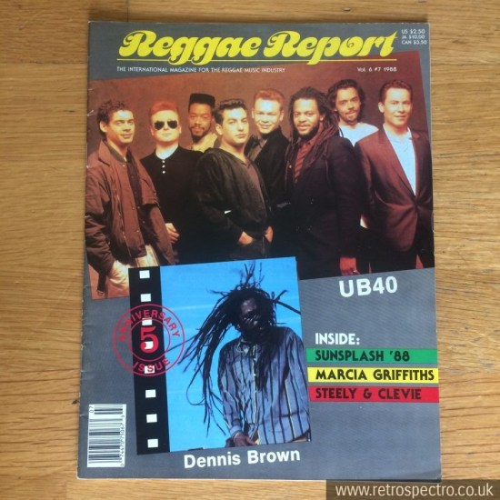 Reggae Report Magazine 1988