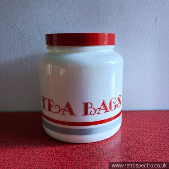 Vintage Candelight Tea Bag Storage Jar