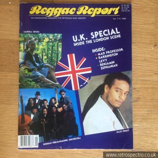 Reggae Report Magazine 1989