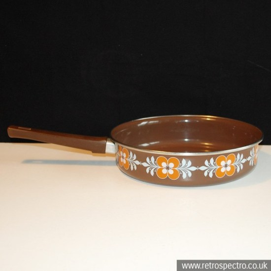Shallow enamel pan