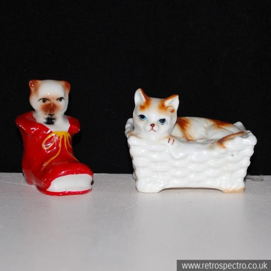 Kitsch cat ornaments