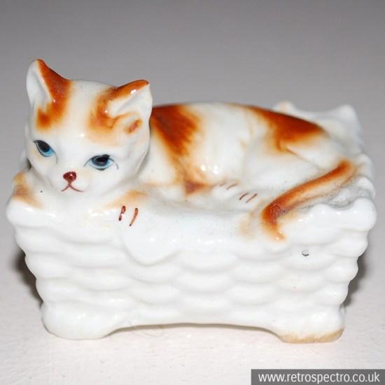 Kitsch cat ornaments