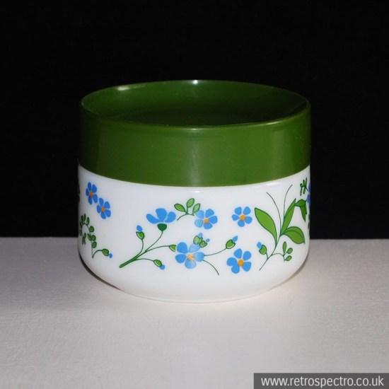 Italian Milk Glass Jar