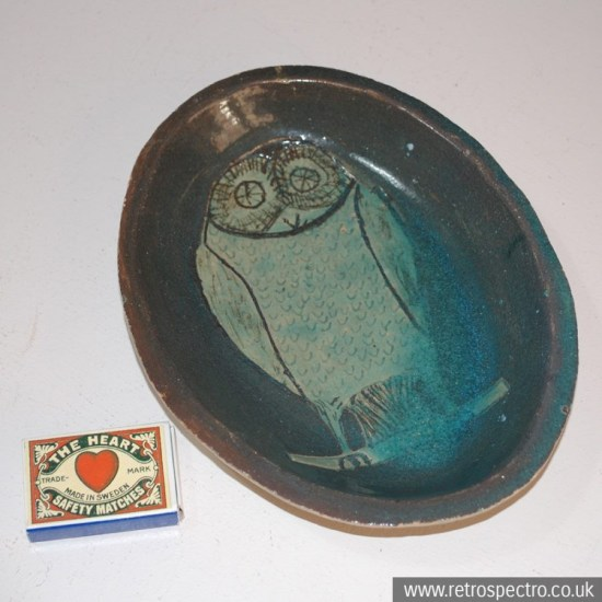Earthenware Owl Dish
