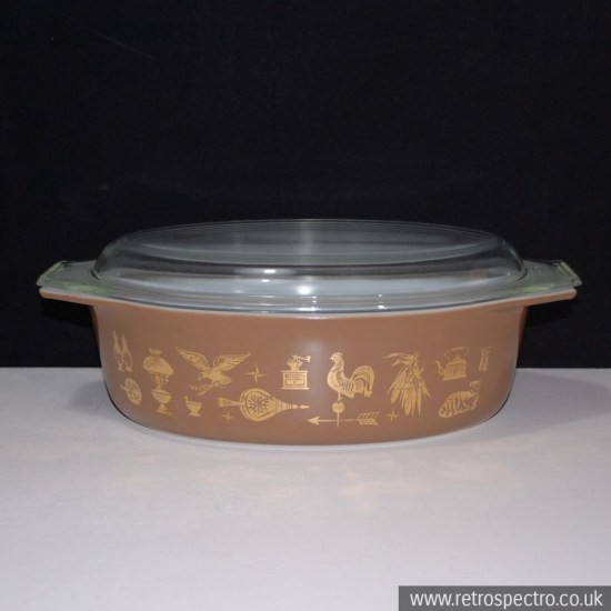 Pyrex Casserole Early American
