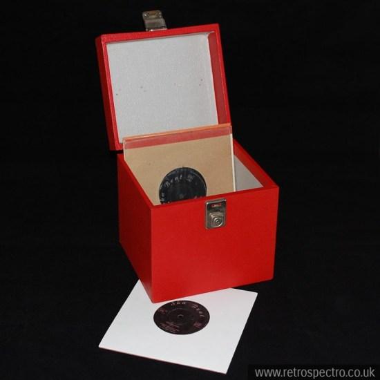 "Red 7"" single storage case"