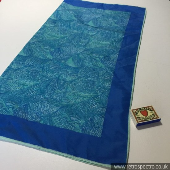 Blue patterned vintage scarf