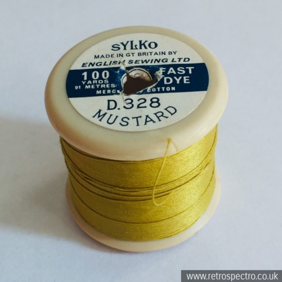 Sylko cotton reel D.328 Mustard
