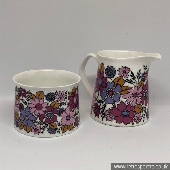 Elizabethan Portobello 2 milk jug and sugar bowl