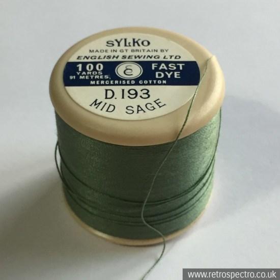 Sylko cotton reel Mid Sage D.193