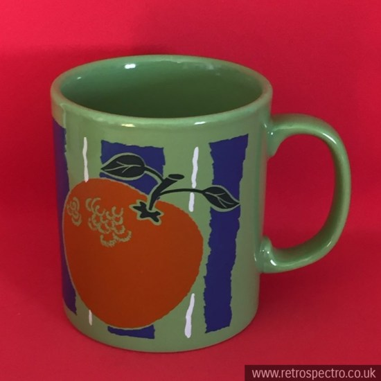 Staffordshire mug with oranges