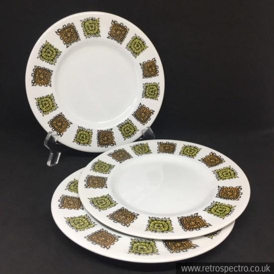 Myott's Pottery Aztec Pattern plates
