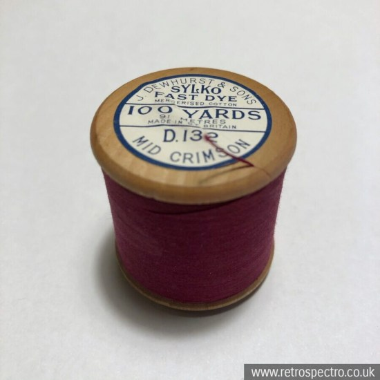 Sylko Cotton Reel D.132 Mid Crimson