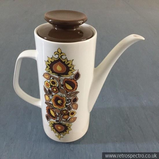 J&G Meakin Bali pattern coffee pot
