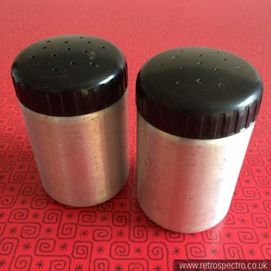 Aluminium salt & pepper shakers