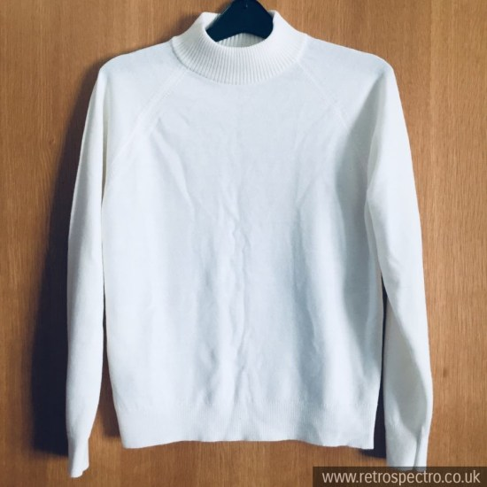 St Michael white Half Turtleneck ladies jumper