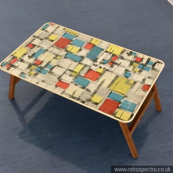 Mid Century wooden folding table MCM