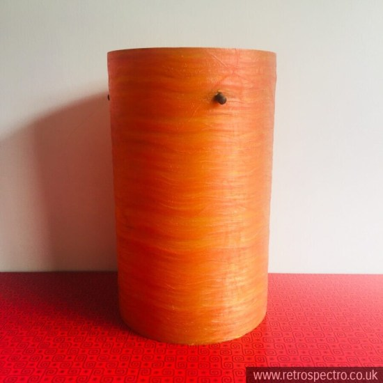 Orange Spun Fibreglass Lamp Shade