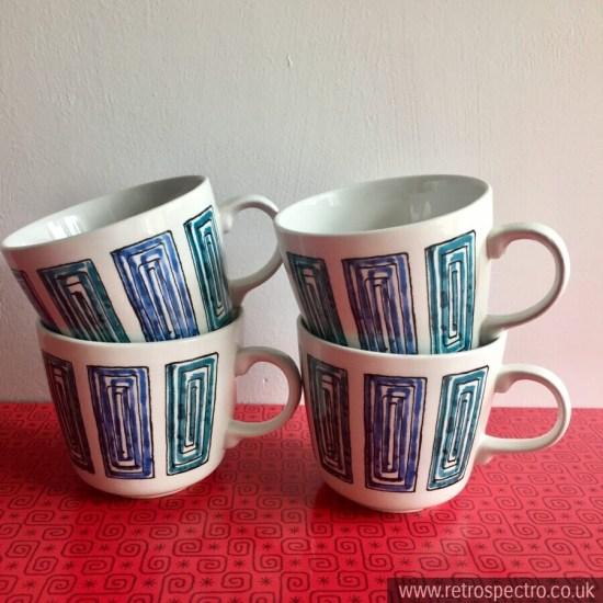Ridgway Ondine Vintage Tea Cups