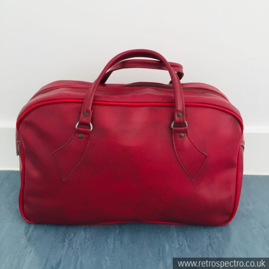 Vintage Red Overnight Bag Holdall