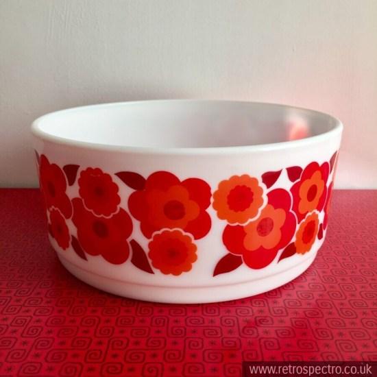 Arcopal Lotus Orange Flower Bowl