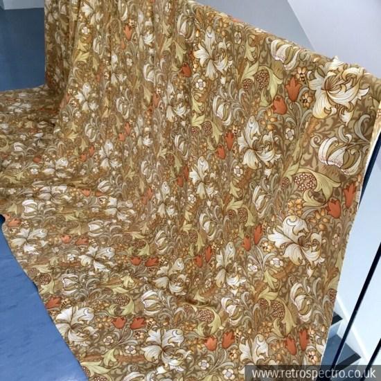William Morris Golden Lily Pattern Curtains vintage