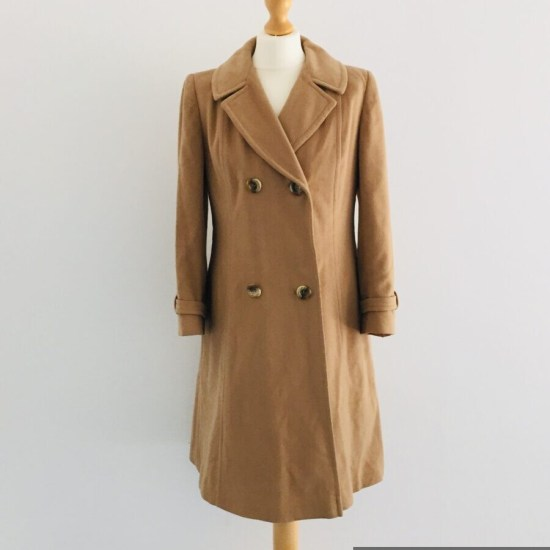 Vintage Simpson of Piccadilly ladies cashmere coat size 12-14