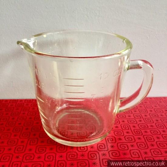 JP Pyrex (pre JAJ Pyrex) small measuring jug - circa 30's/40's