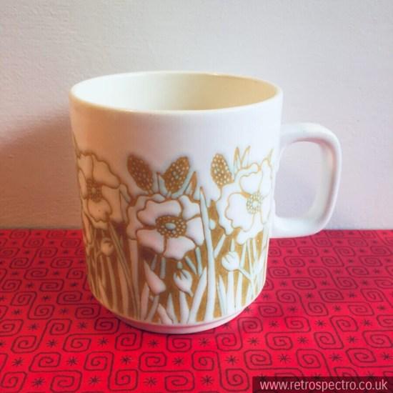 Vintage Hornsea Mug Fleur Pattern